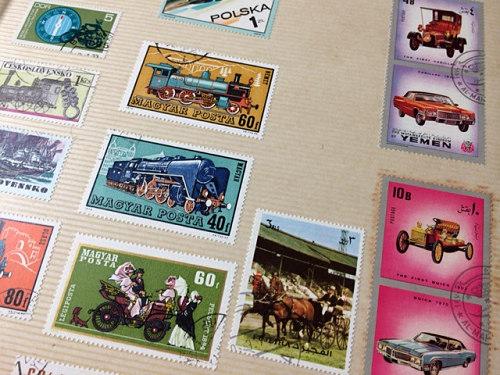 古い奈良モチーフ切手など-05