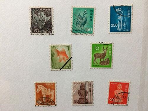 古い奈良モチーフ切手など-08