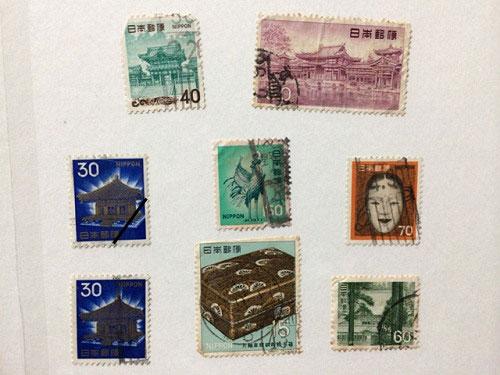 古い奈良モチーフ切手など-09