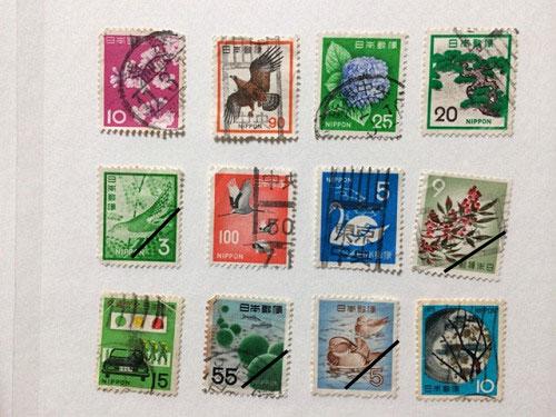 古い奈良モチーフ切手など-10