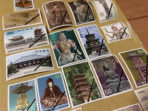 国宝シリーズ・高松塚古墳壁画など。奈良モチーフ切手たち