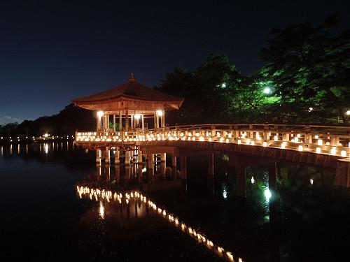 奈良の夏の夜の風物詩『2015なら燈花会』を観てきました