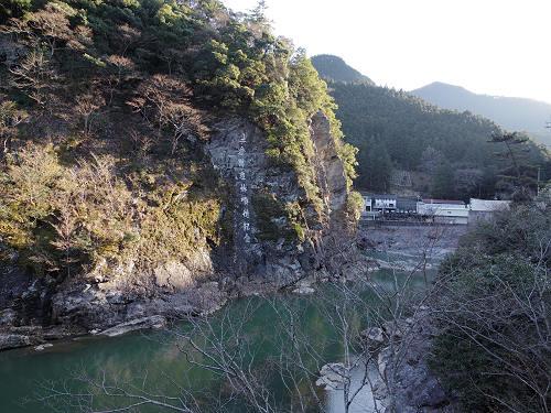 明治の造林王『土倉庄三郎』の磨崖碑と銅像@川上村大滝