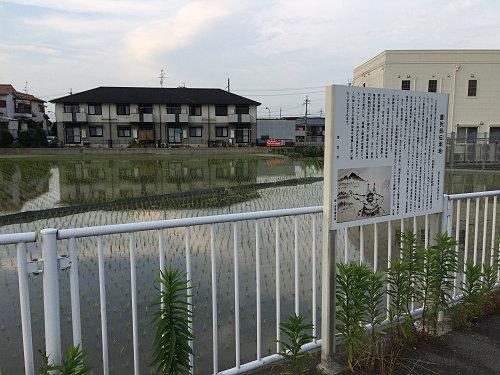 初の天覧相撲の勝者に与えられた土地『腰折田』伝承地 @香芝市