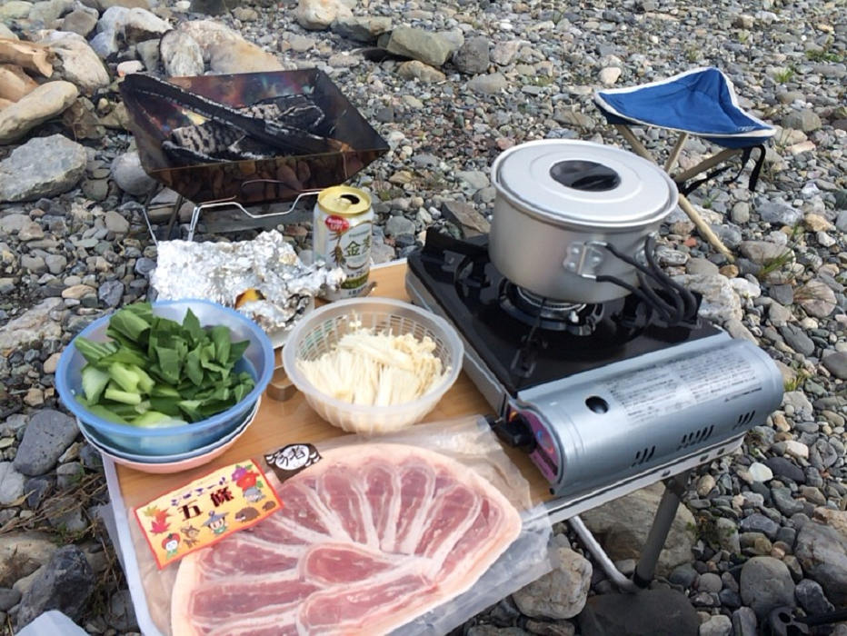 五條産イノシシ肉の「猪鍋」を楽しみました @吉野川