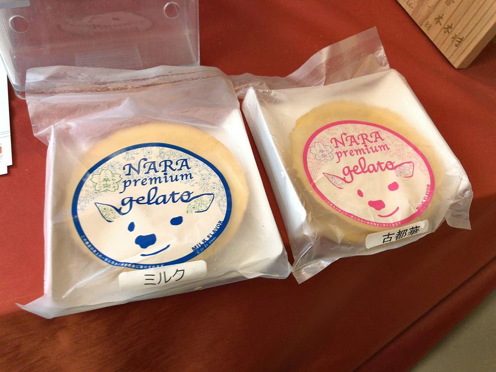 見た目は楽しく美味!『鹿せんべいアイス』@柿の葉寿司 平宗