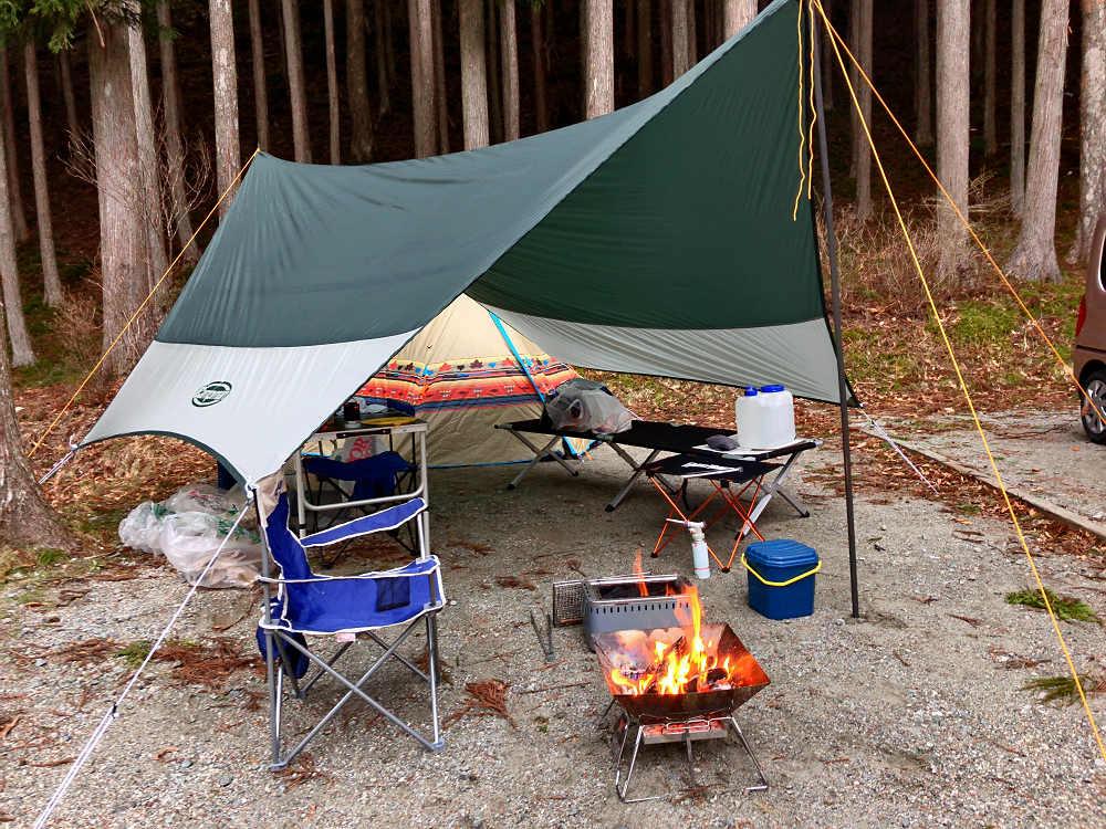 自然豊かで広々!『洞川キャンプ場』で春キャンプ @天川村
