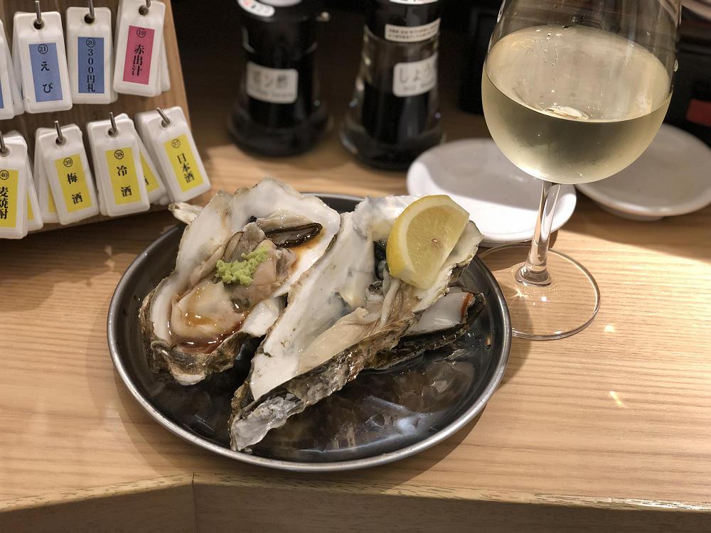 『牡蠣とワイン立喰い すしまる』天王寺MIO店 @大阪あべの