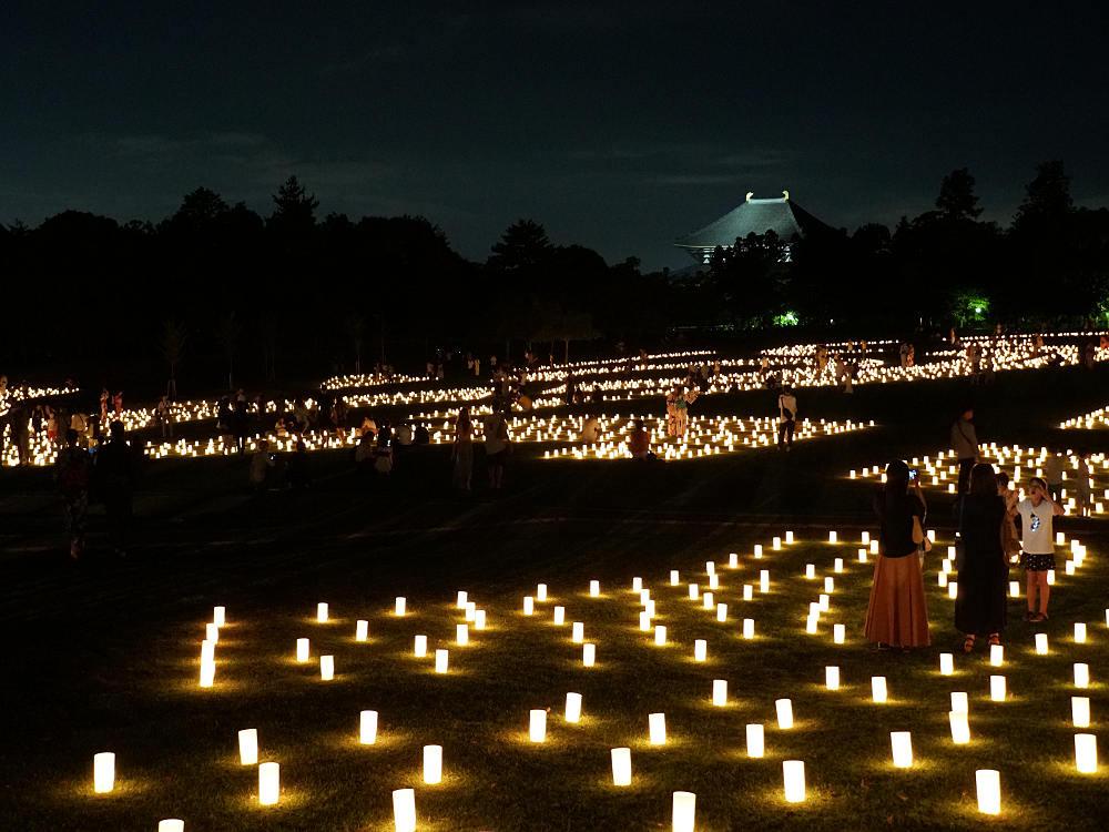 『なら燈花会2019』奈良の夜をロウソクの灯りで彩ります