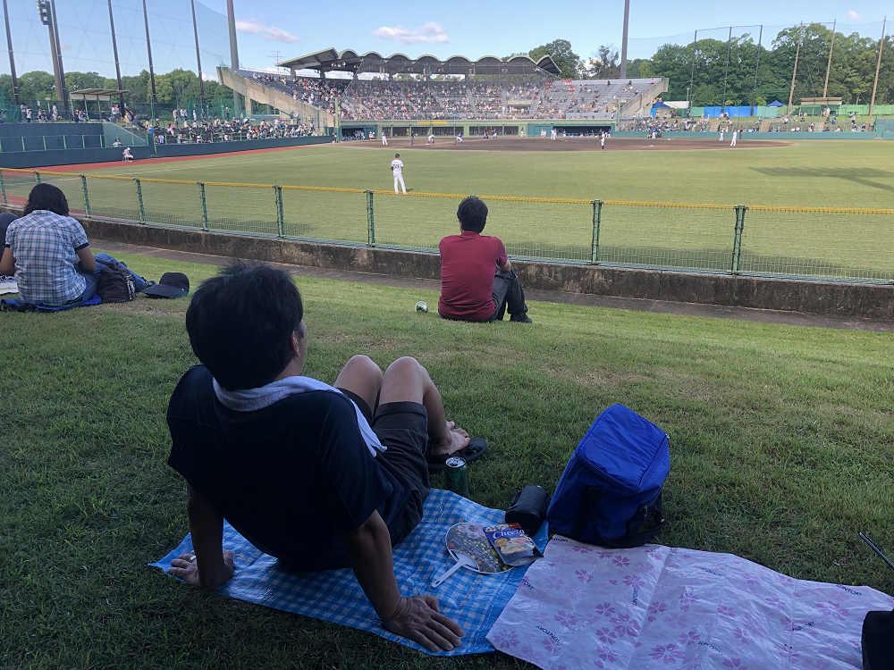 「佐藤薬品スタジアム」での野球観戦は気持ちいい! @橿原市