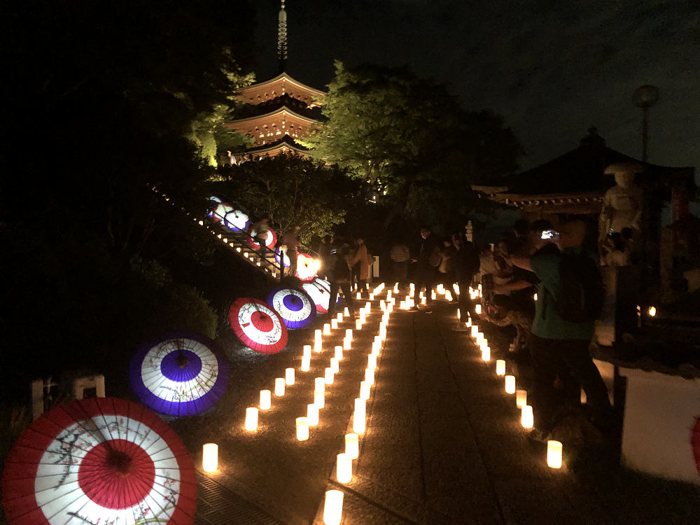 和傘の演出も!美しい灯りのイベント『飛鳥光の回廊』@明日香村
