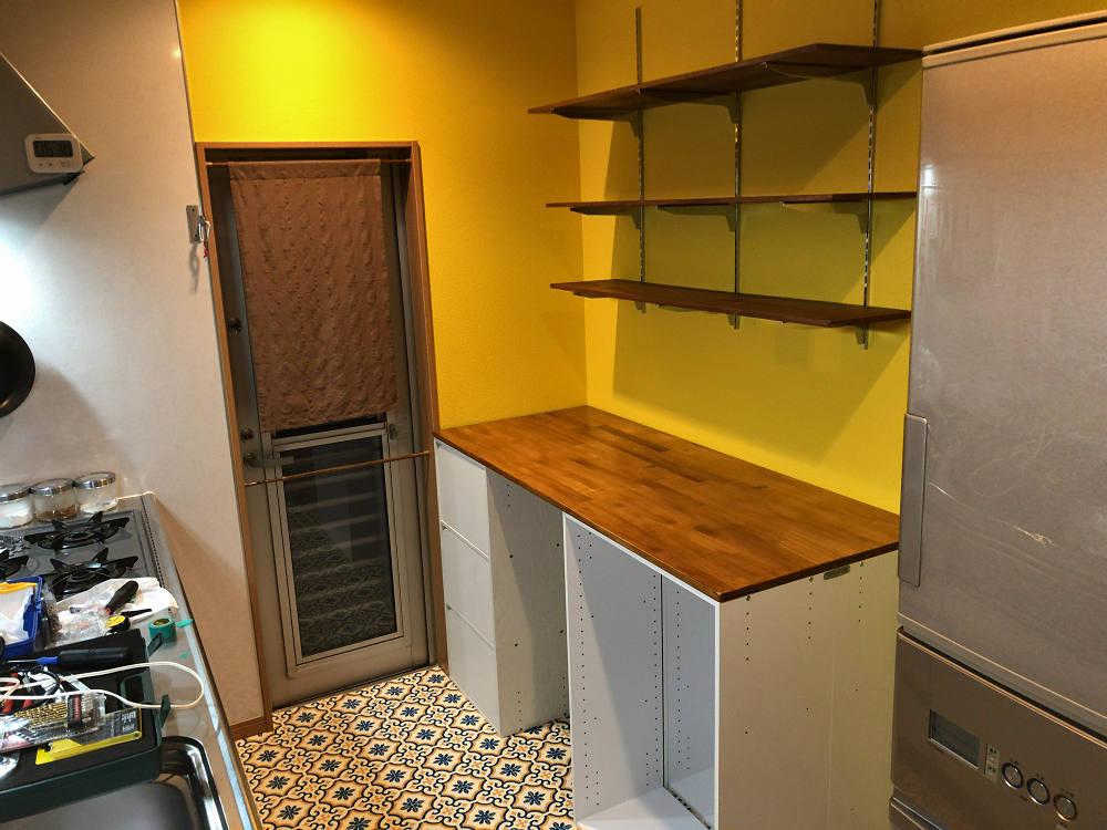 【DIY】自宅キッチンのセルフリフォームがほぼ完成しました