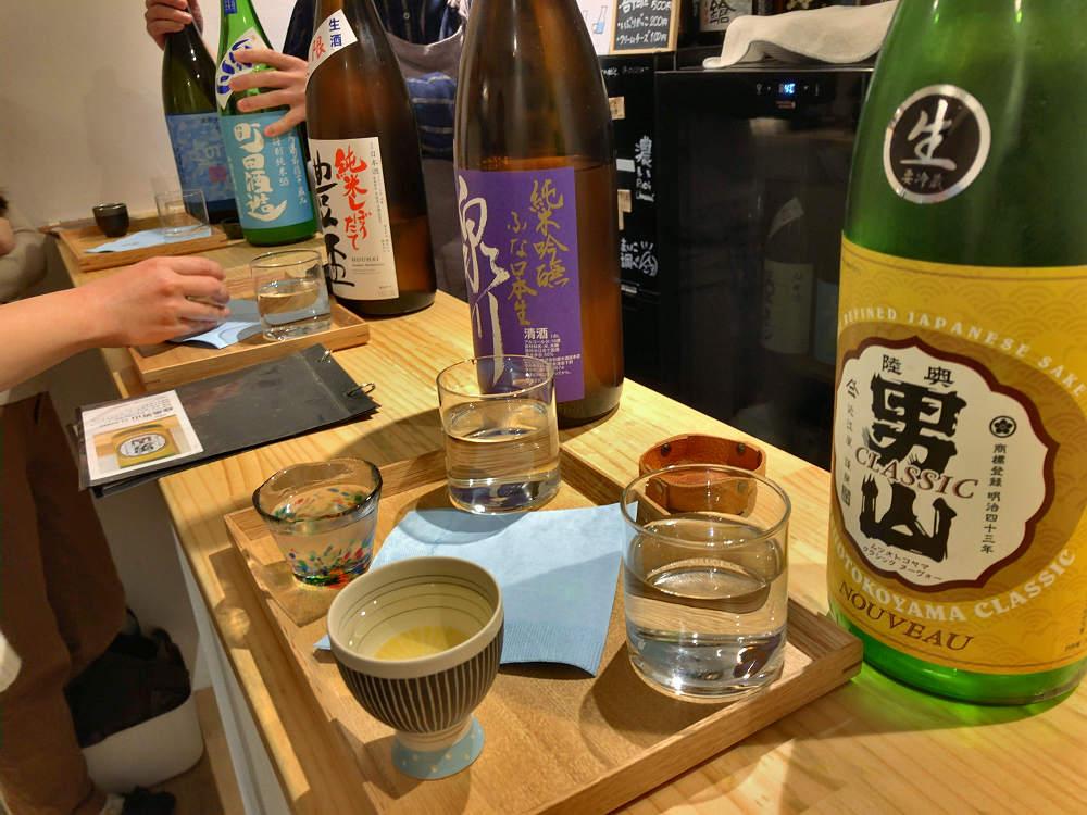 全国の銘酒揃いの立ち飲みバー『日本酒とおつまみ chuin』@奈良市
