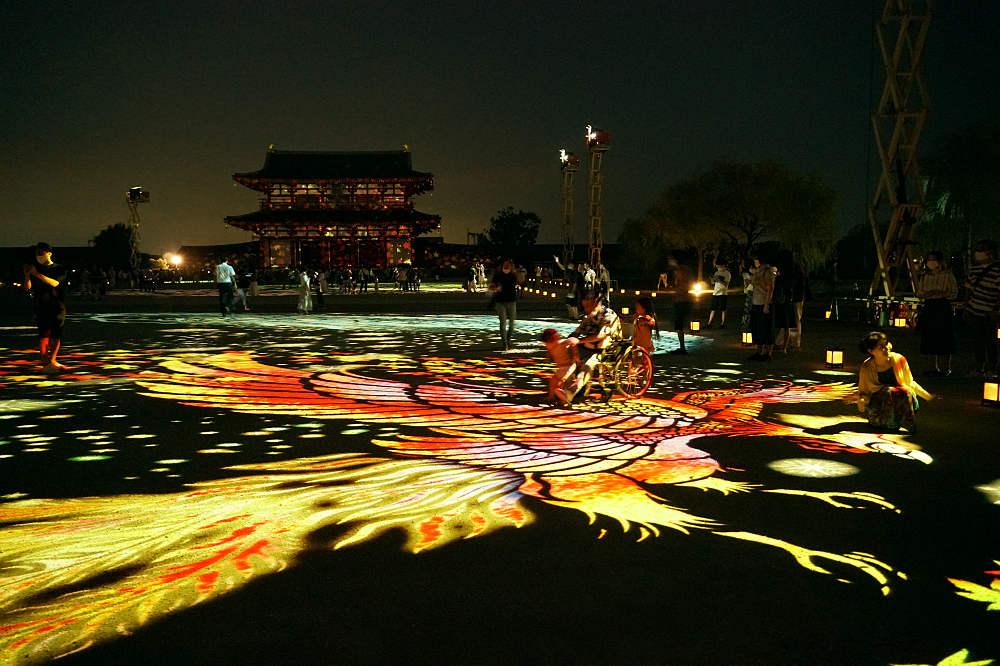 「光の平城京絵巻」が見事 @天平たなばた祭り~平城京天平祭・夏~