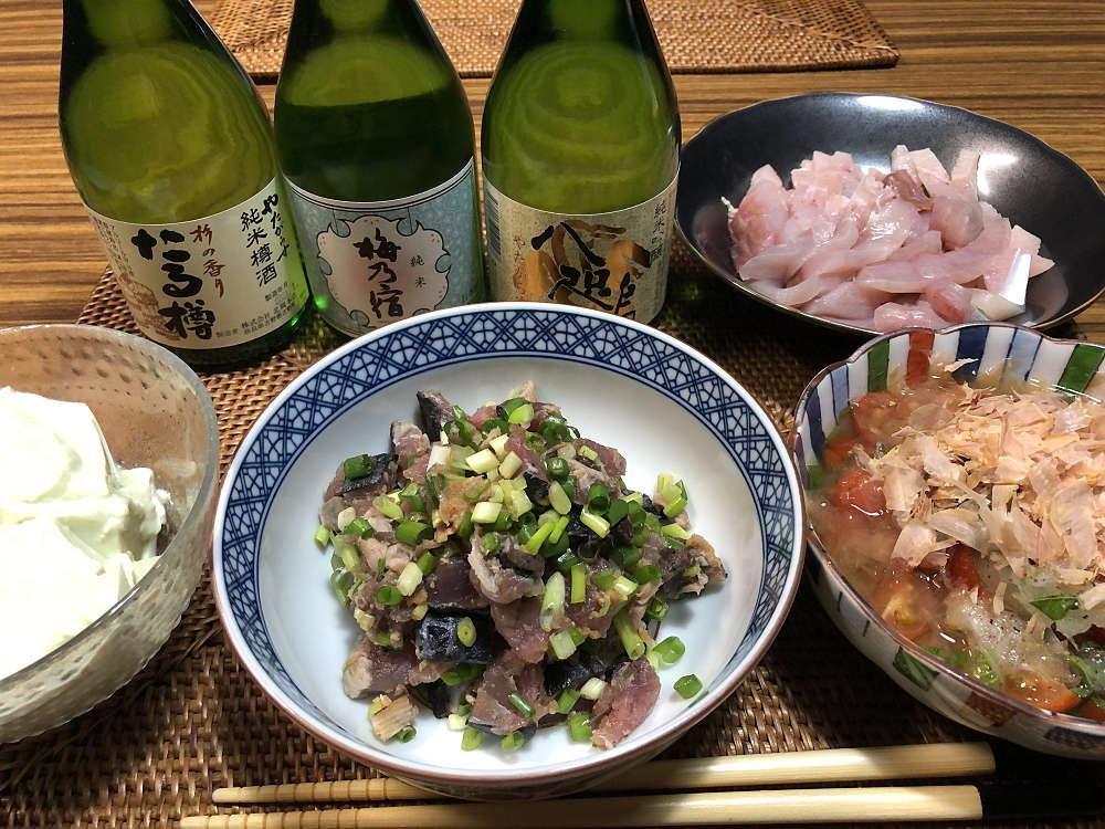 我が家的「冷酒を呑む日」- 奈良の地酒とアテなど