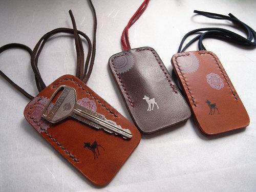 【鹿野堂】鍵1本の全体を包む『ネックレス鍵カバー』