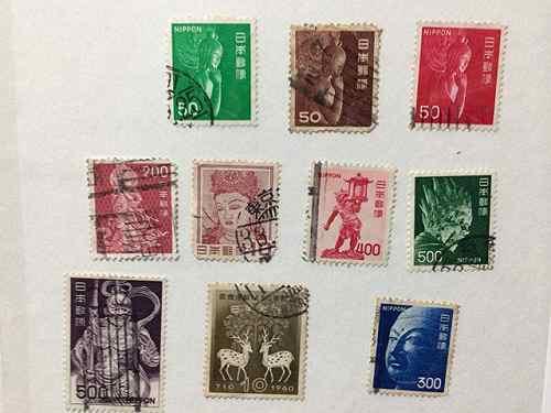 古い切手アルバムから「奈良柄切手」を探してみました